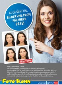 Passbild-Plakat